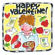 Happy Valentine! (Jongen met rozen, liefdesbrieven en chocolade) - Blond Amsterdam