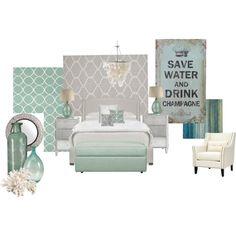 Mint & Grey bedroom