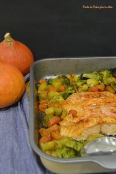 Ponto de Rebuçado Receitas: Salmão e legumes no forno