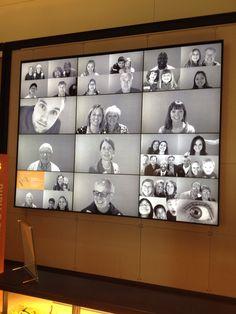 At gates foundation video wall Digital Board, Digital Wall, Environmental Graphic Design, Environmental Graphics, Corporate Design, Retail Design, Office Wall Design, Donor Wall, Interactive Walls