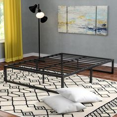 Looking for Bilski Bed Frame Alwyn Home ? Check out our picks for the Bilski Bed Frame Alwyn Home from the popular stores - all in one. Metal Platform Bed, Upholstered Platform Bed, Folding Bed Frame, Bed Frame Sizes, Twin Daybed With Trundle, Beds With No Headboards, Full Daybed, Steel Bed Frame, Smart Bed