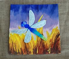 In this project we take the larger Dragonfly and attach to a background for a nice portrait.