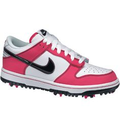 Pink Nike golf shoes, don't need but they are presh