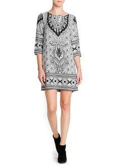 Paisley print shift dress crafted in a flowy fabric. Round neck and three-quarter sleeves. Half Sleeve Dresses, Half Sleeves, Cute Fashion, Fashion Outfits, Womens Fashion, Folk Fashion, Fasion, Style Fashion, Vestidos Vintage