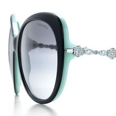 Tiffany & Co Garden cat eye sunglasses in black acetate with Swarovski crystal detail. Might be adding to my Tiffany & Co sunglass collections with these!