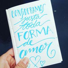 Mais amor sempre! #lulusantos #amor #maisamor #lettering #lettering #love #sketchbook