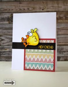 Tracy Mae Design: Hey Chickie || The Alley Way Stamps Sneak Peek, TAWS, clear stamps, card, stamping, Chick Magnet