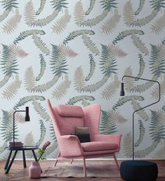 This custom designed frond pattern wallpaper is just made for you if you like nature and plant patterns. Fronds in different sizes on really trasform your room. Repetition of patterns: 60 x 80 cm. Botanical wallpaper mural available in three colors. Plant Wallpaper, Botanical Wallpaper, Pattern Wallpaper, Custom Design, Throw Pillows, Patterns, Colors, Nature, Plants
