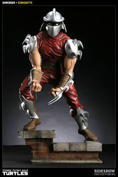 SIDESHOW TMNT Shredder Comiquette Statue Figure IN STOCK NEW SEALED