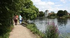 National Trail the Thames Path. Great to walk along, great variety.