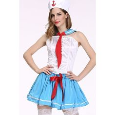 White Sexy Navy Sailor Uniform Cosplay Costume ($33) ❤ liked on Polyvore featuring costumes, role play costumes, sailor halloween costume, navy costume, cosplay halloween costumes and white costumes