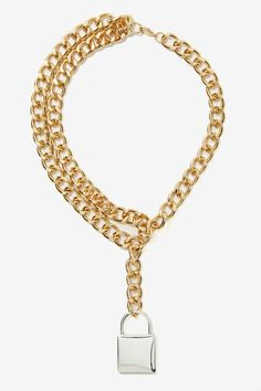 Lockdown Chain Necklace | Shop Design Lover at Nasty Gal