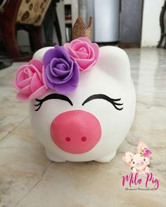 Personalized Piggy Bank, Pigs, Diana, Artsy, Diy Crafts, How To Make, Paper, Crafts To Sell, Easy Crafts