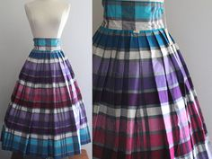 1950s Full Skirt / Vintage 50s NOS Purple by SavvySpinsterVintage, $90.00