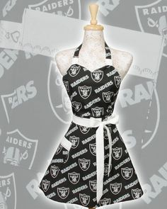 Oakland Raiders Apron NFL football Oakland Raiders by apronqueen, $30.95