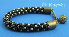 Katako: Bransoletka czarno-złota Bracelet