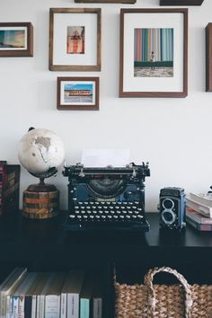 I got both of these goods from New Hope, PA. It's the most amazing little town that is saturated with antique stores. I bought the typewriter for Chara's birthday, she's a copywriter and she had always dropped hints about wanting an old, working typewriter. I found one, and we bought some new ink ribbons for it, and now it works like a charm.