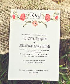 Invitations by Smitten on Paper / smittenonpaper.com, Photography by Christina Block Photography / christinablockphotography.com/portfolio