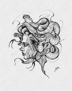 Mini Tattoos, Body Art Tattoos, New Tattoos, Sleeve Tattoos, Cool Tattoos, Medusa Tattoo Design, Tattoo Design Drawings, Tattoo Sketches, Tattoo Designs