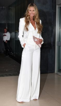 Classic dressy white pantsuit that my character might wear for an ...