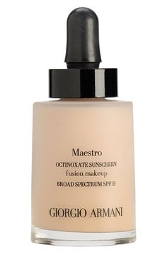 Giorgio Armani 'Maestro' Fusion Foundation Broad Spectrum SPF 15 . Best new foundation 2013! Gotta try!