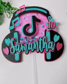 Girls Birthday Party Themes, 10th Birthday, Girl Birthday, Diy Cake Topper, Birthday Cake Toppers, Kate Spade Party, Cricut Cake, Teenage Parties, Birthday Centerpieces