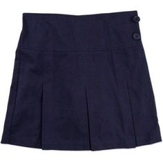 Plus Size George Girls' Plus School Uniforms, Pleated Scooter with Side Buttons, Girl's, Size: 18.50, Blue