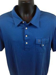 Original Penguin By Munsingwear Mens Polo Shirt Size XL Classic Fit Blue Pocket