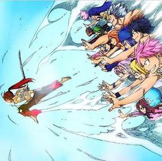 Fairy tail, friends that are always there.