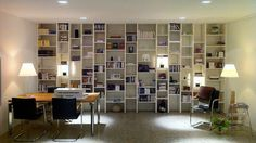 Bibliophilia: Combining Library with Home Office