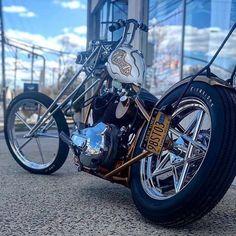 It's a Harley Davids Bobber Motorcycle, Cool Motorcycles, Motorcycle Outfit, Harley Bobber, Motorcycle Garage, Vintage Motorcycles, Sportster Chopper, Chopper Bike, Harley Davidson Chopper