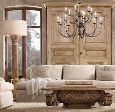 Hand-Carved Corinthian Column Floor Lamp