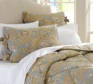 Helena Reversible Comforter - Blue