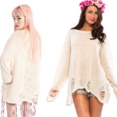Wildfox sweater Tan, never worn! Fits a small/medium, great for summer! Wildfox Sweaters