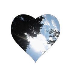 Nature Photo NJ CherryHill America NVN667 GIFTS FU Heart Stickers