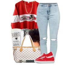 A fashion look from March 2015 featuring Disney tops, Vans sneakers and Louis Vuitton tote bags. Browse and shop related looks.