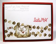 Paper Smooches Stamp Sets Chubby Chums and Santa Paws.  Made by Lori Barnett