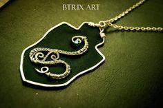 Ciondolo Stemma Slytherin   Wire Jewellery di BtrixArt su Etsy