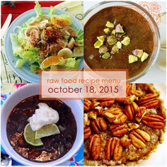 Raw on $10 a Day (or Less!): Raw Food Recipe Menu: October 18, 2015
