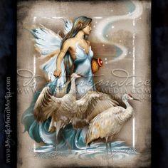 """Aquarius"" - from my Zodiac Collection. January 20 - February 18 http://www.mysticmoonmedia.com/collections/art-gallery-giclee-prints-mystic-moon-media/products/aquarius #FantasyArt #FantasyArtwork #DigitalPainting #FantasyArtPrints #digitalFantasyArt #zodiac #fairy"