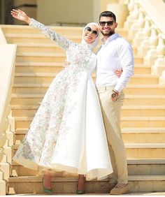 8 Dress With Sleeves Formal Simple Hijab Evening Dress, Hijab Dress Party, Hijab Style Dress, Hijab Look, Muslim Wedding Dresses, Prom Dresses, Formal Dresses, Lookbook Hijab, Estilo Abaya