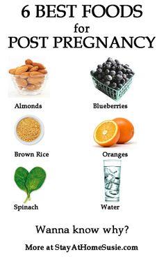 6 best post-pregnancy foods |