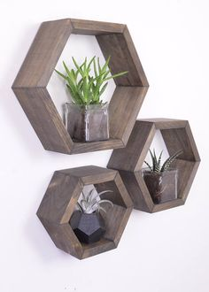 3 Hexagon Shelves Honeycomb Shelf Hexagon Shelf Nursery