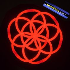 """8"""" Lumistick Glowsticks Glow Stick Bracelets RED (Tube of..."""