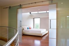 glass partition in bedroom - Google Search
