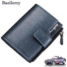 b8cbf79af Mężczyźni portfele zipper wallet mężczyzn Mikrofibry skórzane moda Top  quality mężczyzna portmonetka portfel kobiet krótkie trifold Cena Hurtowa!
