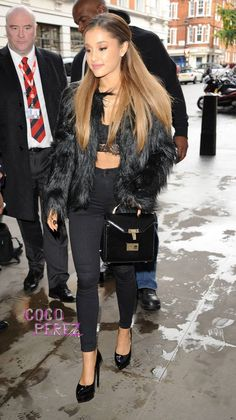 Ariana Grande Cozies Up To Big Sean Another Furry Coat Out In London!