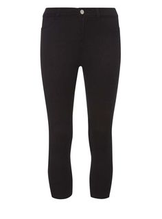 Womens Petite Black 'Frankie' Ankle Grazer Jeggings- Black