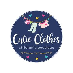 Premade Logo - Kids Clothing Premade Logo Design - Customized with Your Business Name! Boutique Logo, Kids Boutique, Clothing Logo Design, Kids Clothing Rack, Clothing Company, Kids Clothesline, Cool Baby Clothes, Clothes Sale, Kids Logo
