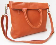 Hermes Tangerine / Orange Nappa Leather Oversized by farragobags2, $124.00